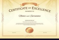 Award Of Excellence Certificate Template 6