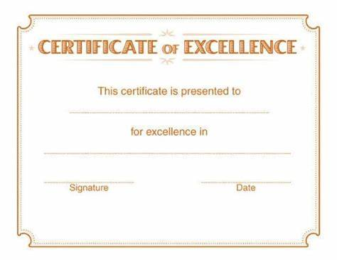 Award Of Excellence Certificate Template 8