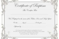 Baby Christening Certificate Template 7