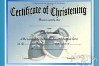 Baby Christening Certificate Template 8