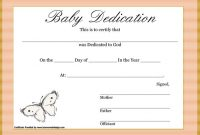Baby Dedication Certificate Template 11