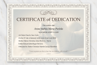 Baby Dedication Certificate Template 3