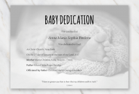 Baby Dedication Certificate Template 5