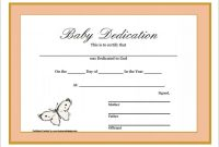 Baby Dedication Certificate Template 6