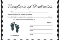 Baby Dedication Certificate Template 8