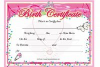 Baby Doll Birth Certificate Template 3