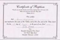 Baptism Certificate Templates Word
