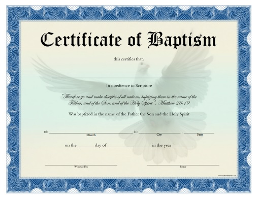 Baptism Certificate Template Download 5