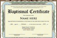Baptism Certificate Template Download 9