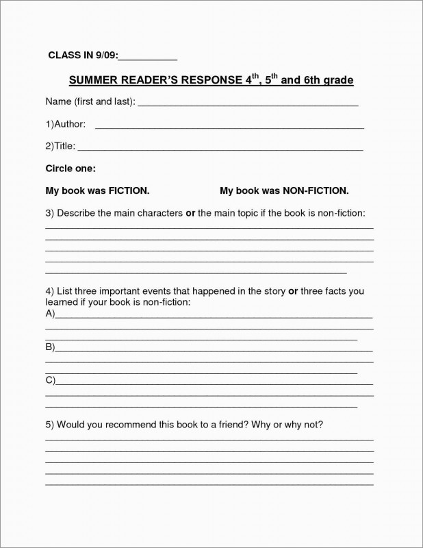 2nd Grade Book Report Template New 3rd Grade Book Report Template Free Fabulous Book Report Outline 5th