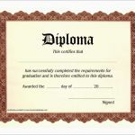 5th Grade Graduation Certificate Template Awesome Free Printable Diploma Template Fabulous Free Certificate Templates