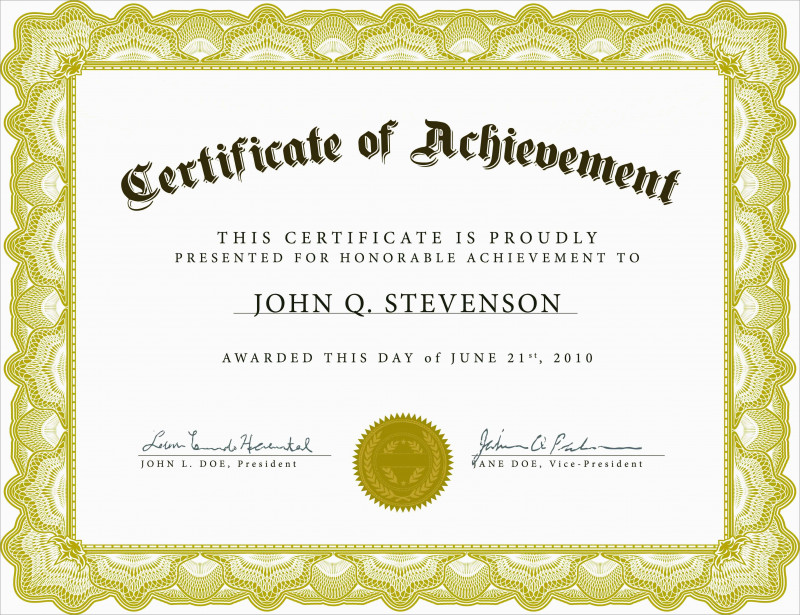 picture regarding Printable Graduation Certificate named 5th Quality Commencement Certification Template Distinctive Free of charge
