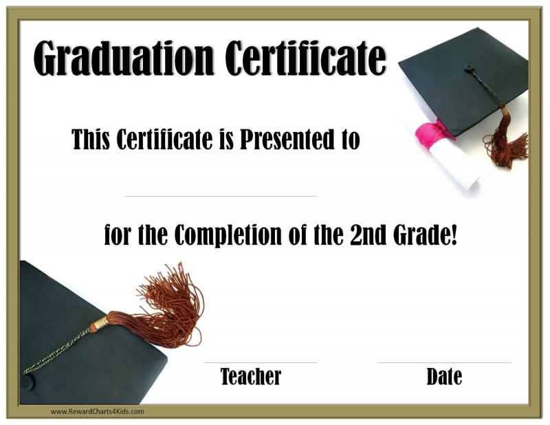 5th Grade Graduation Certificate Template Unique Printable Graduation Certificate Eymir Mouldings Co