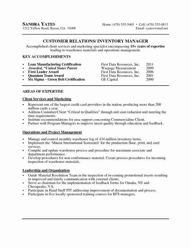 Acquittal Report Template Professional Inspirational Sample Operations Manager Resume atclgrain