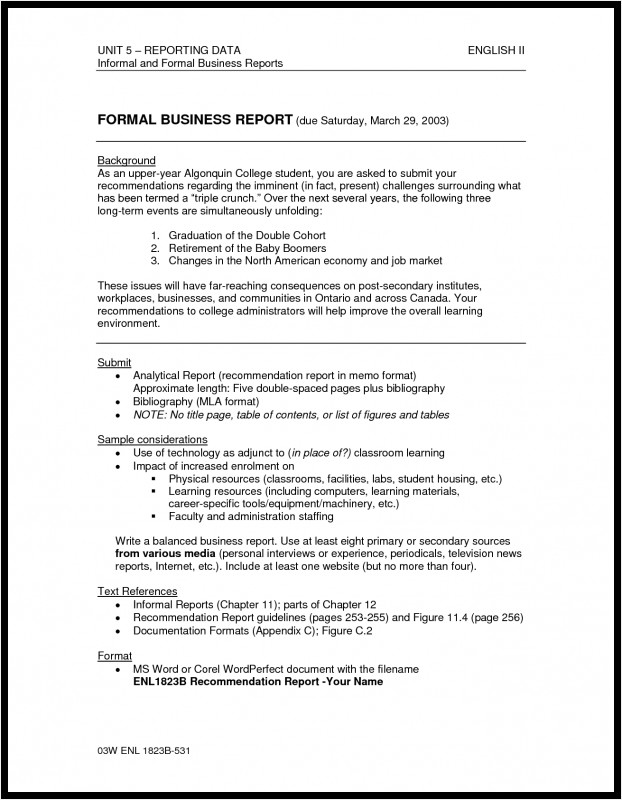 Analytical Report Template New Formal Report Format Template 3233312750561 Business Best Of Sample