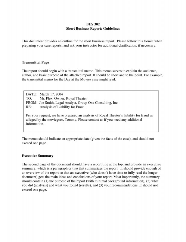 Analytical Report Template Unique Short Business Report Garaj Cmi C org