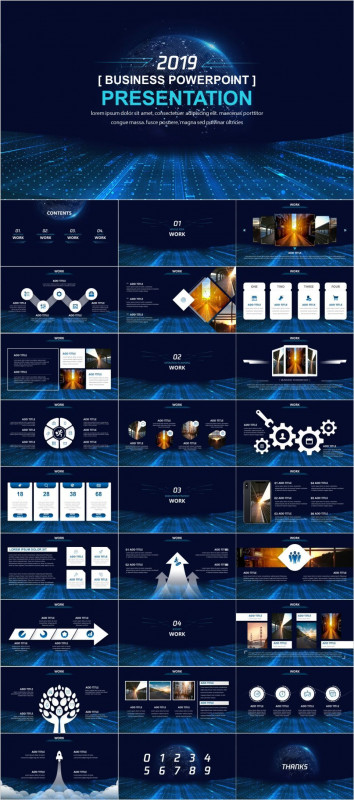 Annual Report Ppt Template Awesome Technology Working Design Powerpoint 2019 Best Business Design