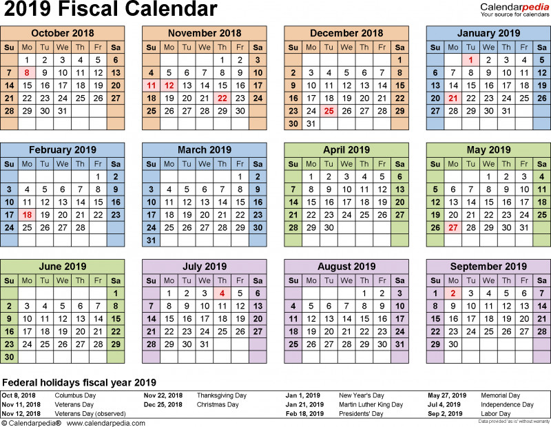 Annual Report Word Template Awesome Fiscal Calendars 2019 as Free Printable Word Templates