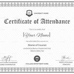 Attendance Certificate Template Word Awesome Great Course attendance Certificate Template Images Certificate Of
