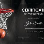 Basketball Certificate Template Awesome Nice Basketball Certificate Template Pictures Participation Award