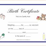 Birth Certificate Template for Microsoft Word Unique Baby Girl Birth Certificate Template Radiodignidad org