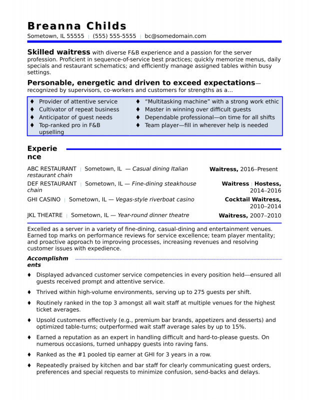 Book Report Template 2nd Grade New Waitress Resume Sample Monster Com