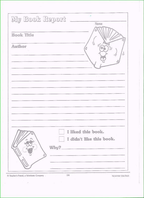 Book Report Template Grade 1 Awesome Book Report Template 2nd Grade Free Necessary Models Search Results