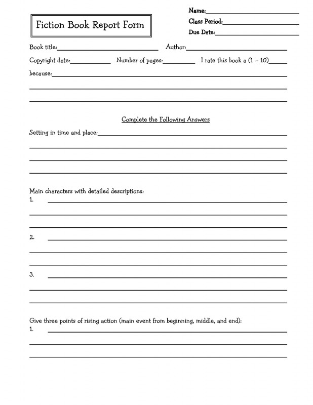 Book Report Template Grade 1 New Middle School Book Report Brochure 6th Grade 7th Grade 8th