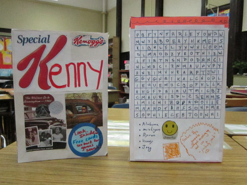 Cereal Box Book Report Template Professional the Watsons Go to Birmingham Cereal Box Project Miss Alexis Strathmann