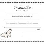 Certificate Of Appreciation Template Free Printable Unique Free Printable Godparent Certificates Printable Godmother