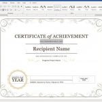 Certificate Of Completion Template Free Printable New Create A Certificate Of Recognition In Microsoft Word