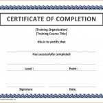 Certificate Of Completion Word Template Unique 023 Template Ideas Certificateofcompletion Certificate Of Completion
