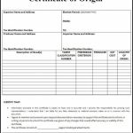 Certificate Of origin form Template Awesome 020 Blank Certificate Of origin Template Unique form Example Mughals