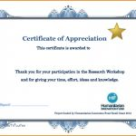 Certificate Of Participation In Workshop Template Awesome Great Template for Certificate Of Participation In Workshop Images