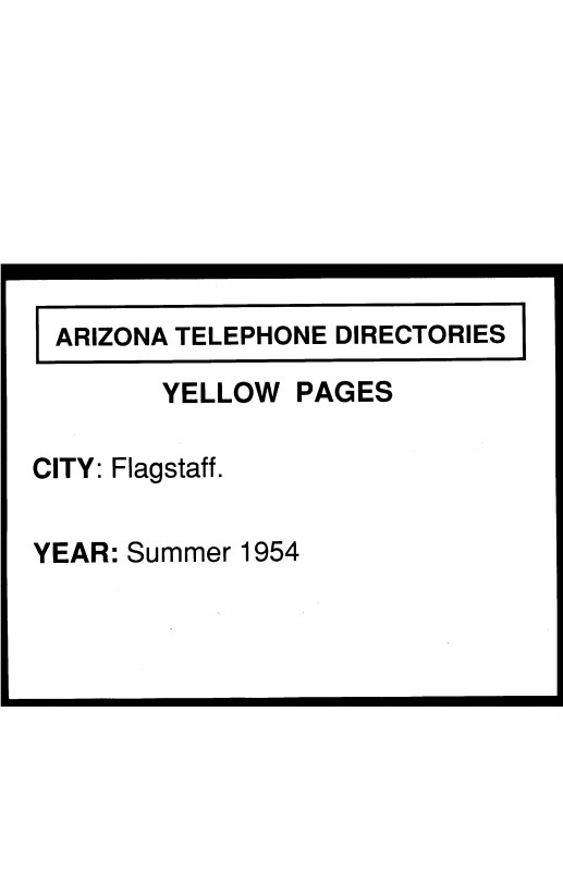 Chiropractic X Ray Report Template Awesome 1954 Flagstaff Telephone Directory Yellow Pages Flagstaff