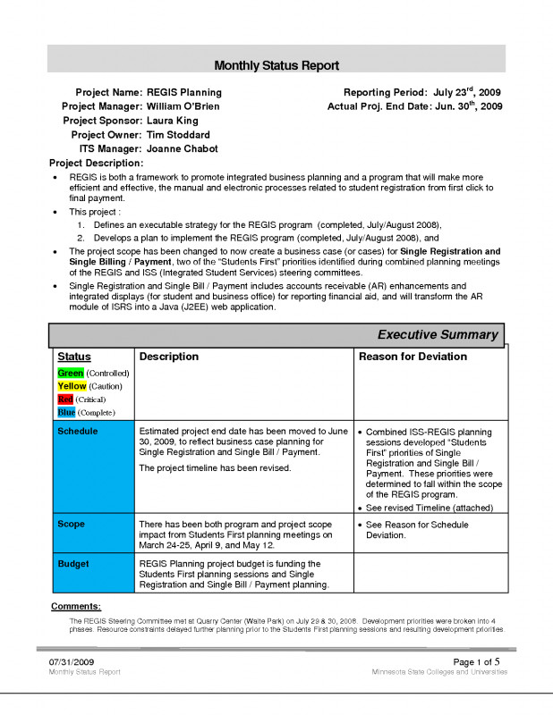 Company Progress Report Template Professional Weekly Status Report Template Excel Best Project Management Closure