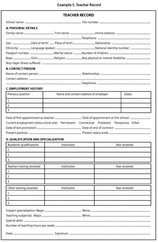 Country Report Template Middle School Unique Module A1 School Records Management