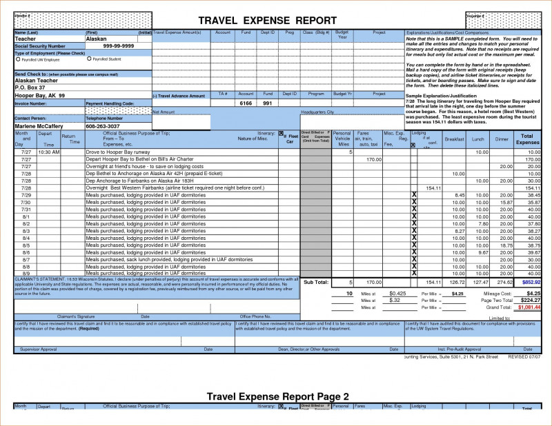 Daily Expense Report Template New New Excel Expense Report Template Mavensocial Co