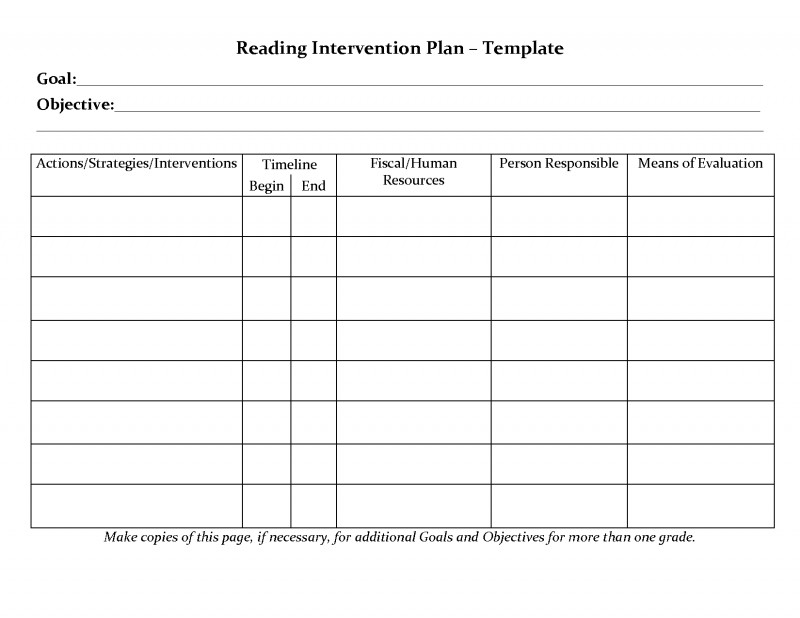 Daily Site Report Template Professional Student Planner Templates Reading Intervention Plan Template