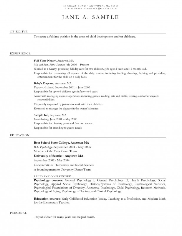 Daycare Infant Daily Report Template Unique Child Care Resume Sample Childcare Jennifer Smith At Daycare Worker