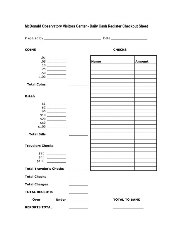 End Of Day Cash Register Report Template Professional End Of Day Cash Register Report Template Professional Resume Template