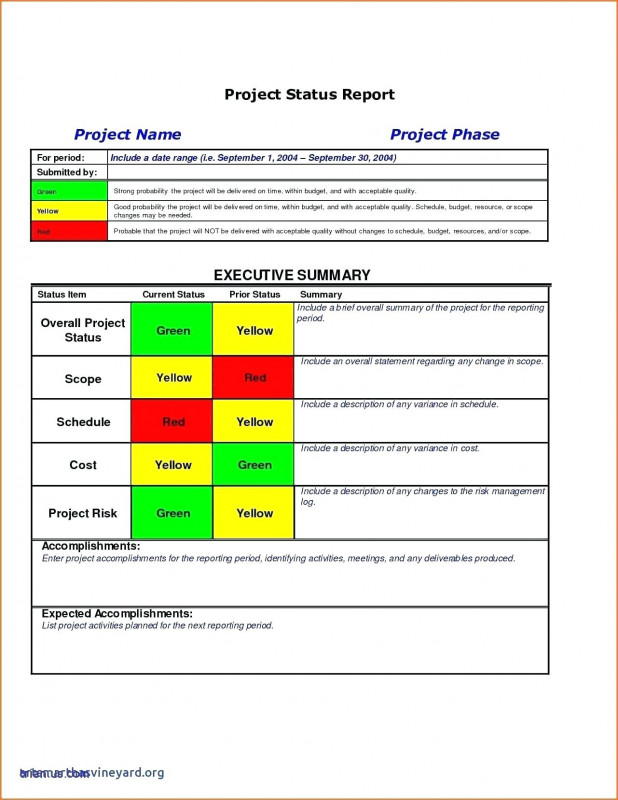 Executive Summary Project Status Report Template Awesome Executive Summary Template Word Project Management Status Report