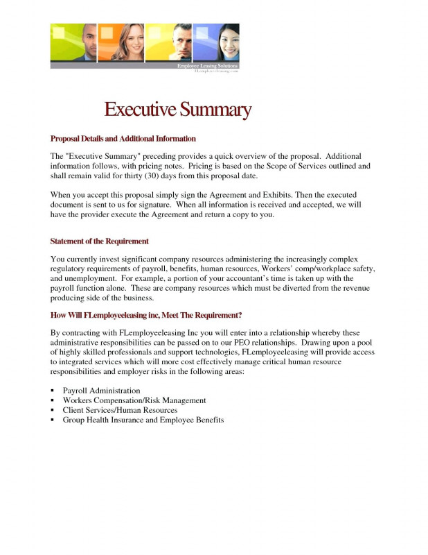 Executive Summary Report Template Professional 019 Executive Summary Template Wordxample Business Plan Project