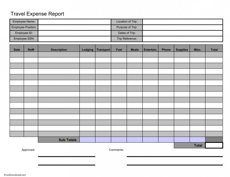 Expense Report Template Excel 2010 Awesome 002 Expense Report Template Excel Travel Pdf Breathtaking Ideas