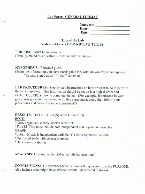 Formal Lab Report Template Awesome Bio Lab Report Example Meetpaulryan