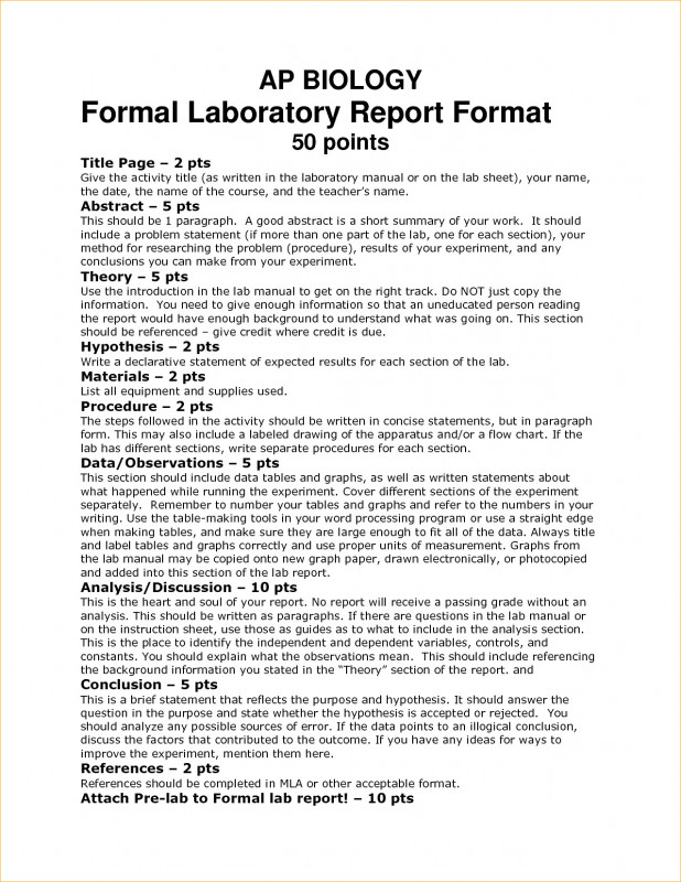 Formal Lab Report Template Professional 005 Formal Lab Report Example Biology Template Outstanding Ideas