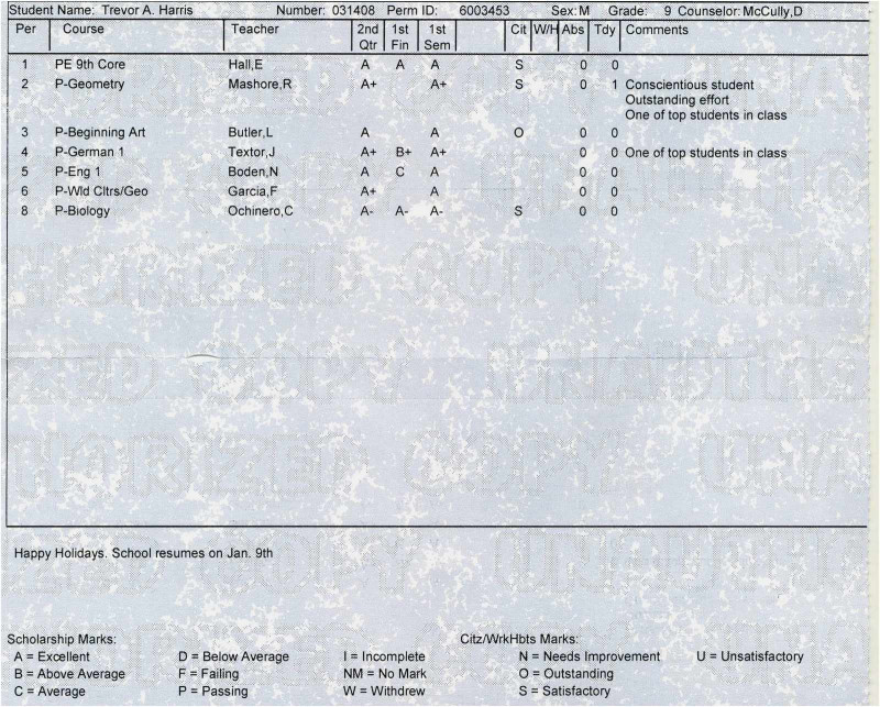 High School Student Report Card Template Awesome Free Collection Real Fake Report Card Templates High Template With