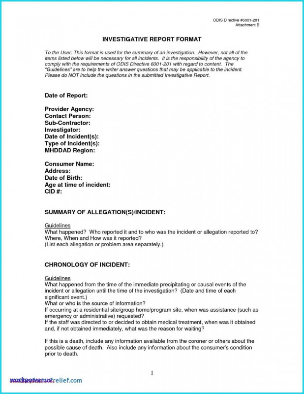 Hr Investigation Report Template Professional Beautiful Letter Of Medical Necessity Template Www Pantry Magic Com