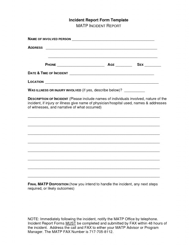 Incident Report Book Template New Free Incident Report Letter Sample Suzen Rabionetassociats Com
