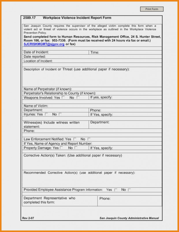 Incident Report Form Template Qld Awesome Workplace Incident Report Form Qld Template Injury Ontario Ohs